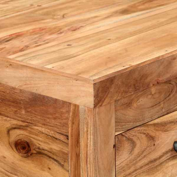 Cărucior de bucătărie, 58 x 58 x 89 cm, lemn masiv de acacia