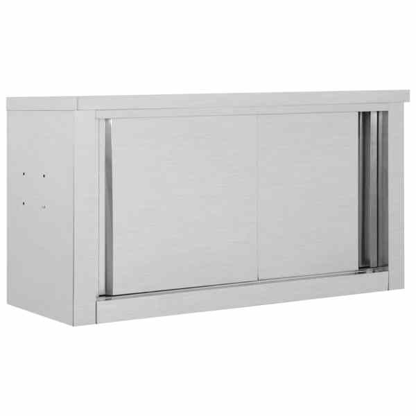 vidaXL Dulap bucătărie cu uși glisante, 90x40x50 cm, oțel inoxidabil