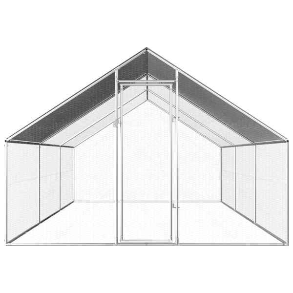Coteț de exterior pentru păsări, 2,75x6x1,92 m, oțel galvanizat