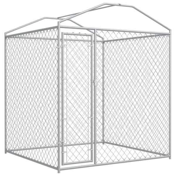 Padoc de exterior cu prelată pentru câini, 193x193x225 cm