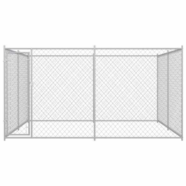 Padoc pentru câini de exterior, 383x383x185 cm