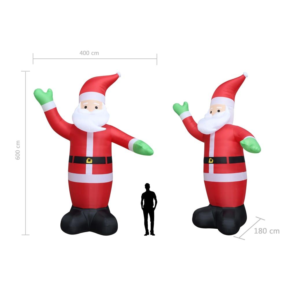 Moș Crăciun gonflabil, LED, IP44, 600 cm XXL