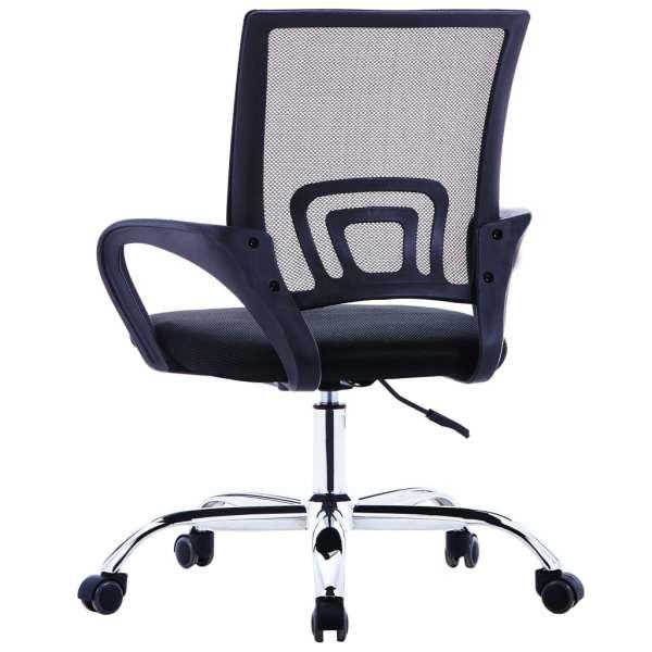 Scaun birou cu spătar din plasă, negru, material textil