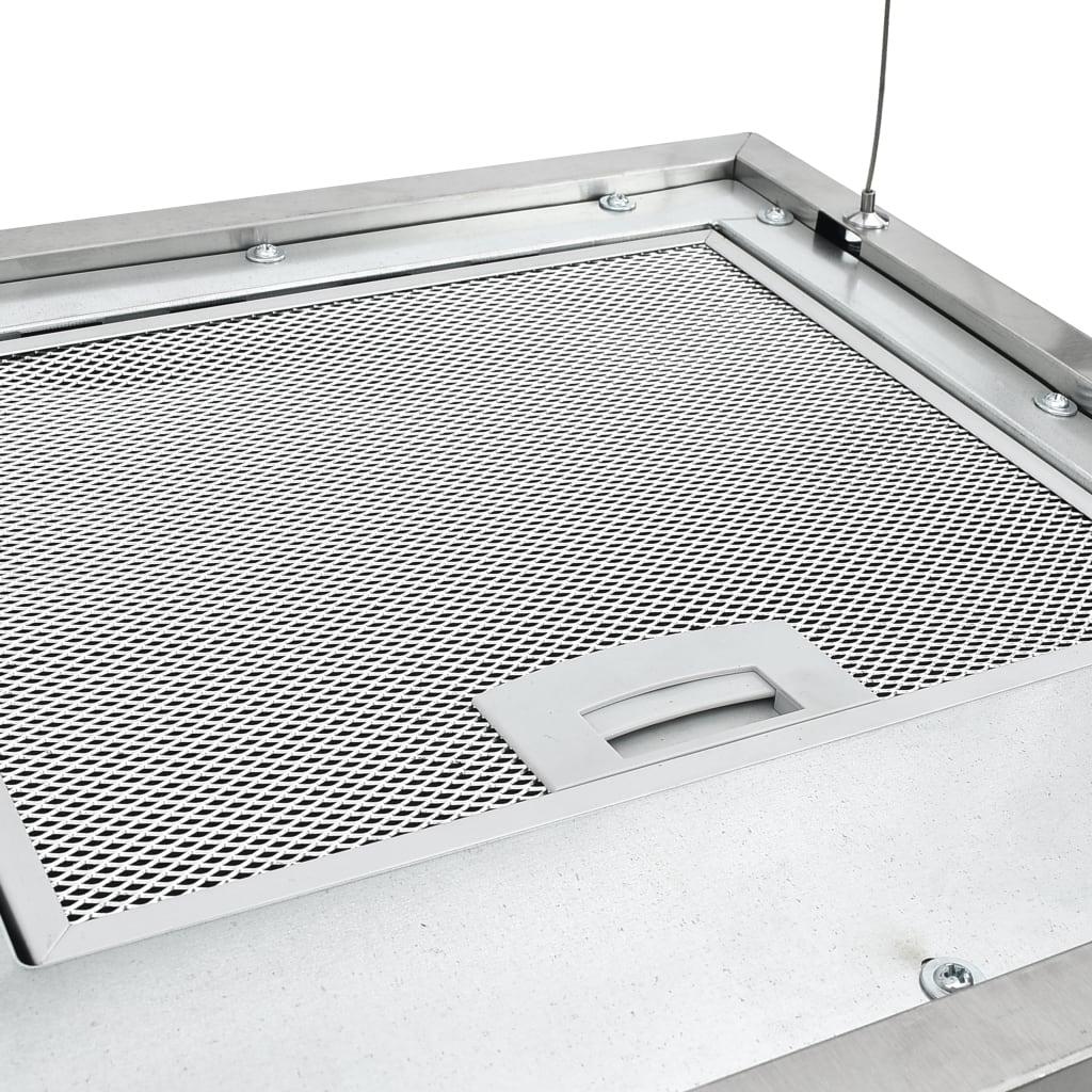 Hotă suspendată insulă LCD senzor tactil 37 cm oțel inoxidabil