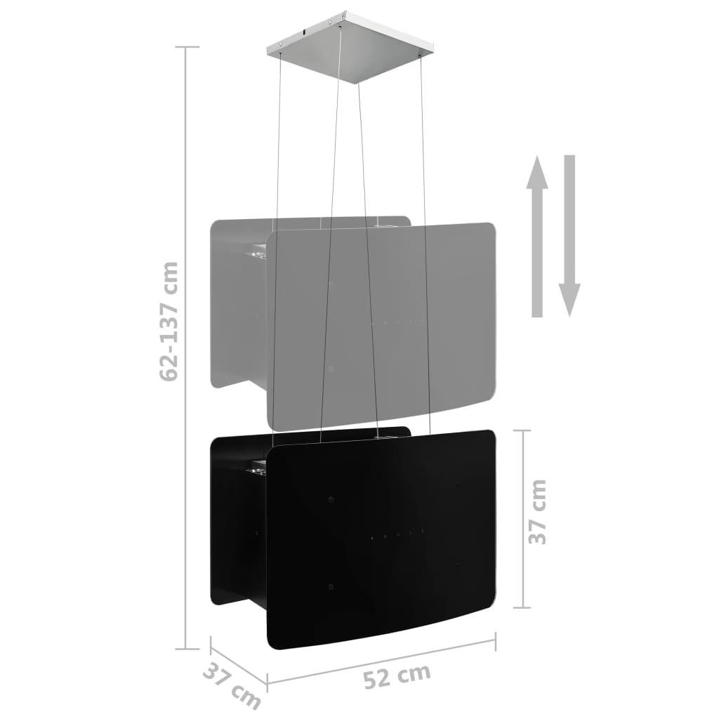 Hotă suspendată insulă, LCD senzor tactil, sticlă securizată