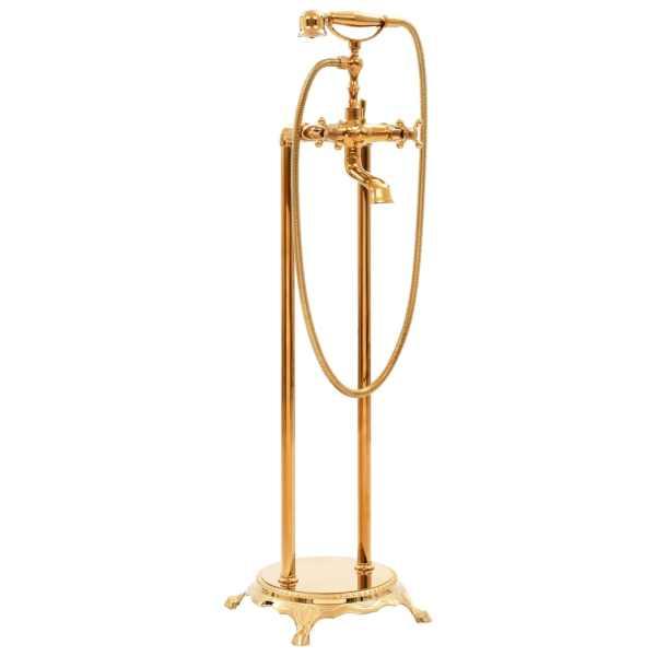 vidaXL Robinet de cadă independent, auriu, 99,5 cm, oțel inoxidabil