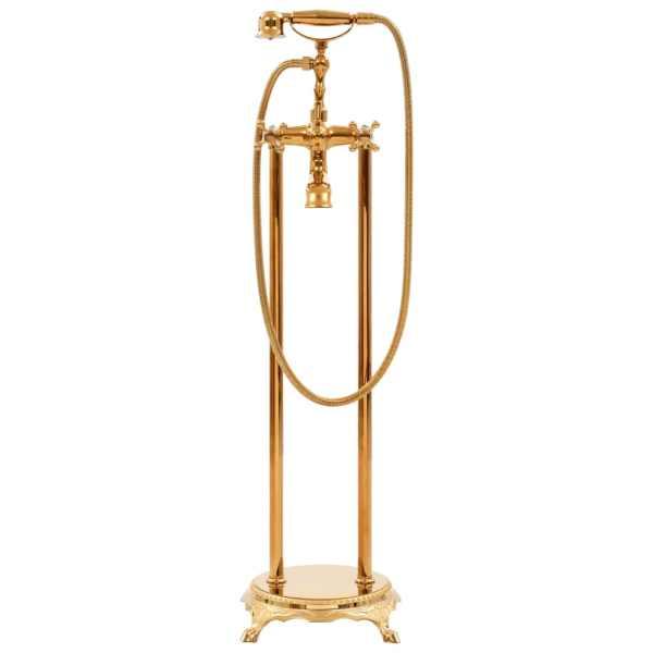 Robinet de cadă independent, auriu, 99,5 cm, oțel inoxidabil