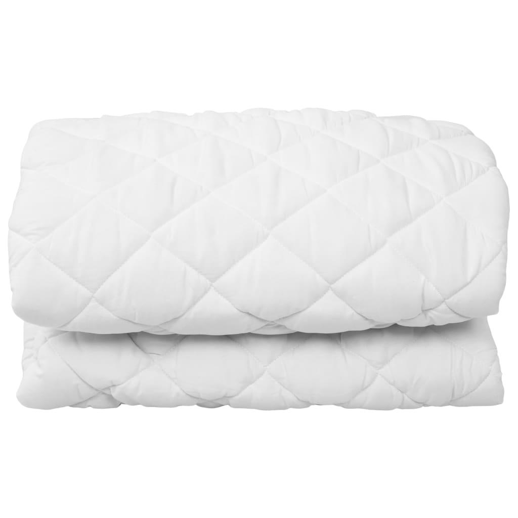 vidaXL Protecție pentru saltea matlasată, alb, 160 x 200 cm, subțire