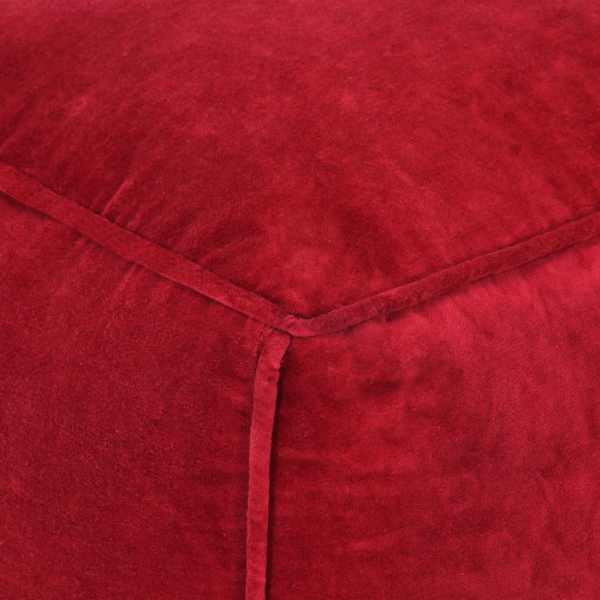 Fotoliu puf, roșu rubin, 40 x 40 x 40 cm, catifea de bumbac