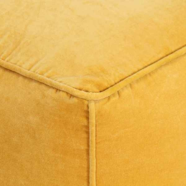 vidaXL Fotoliu puf, galben, 40 x 40 x 40 cm, catifea