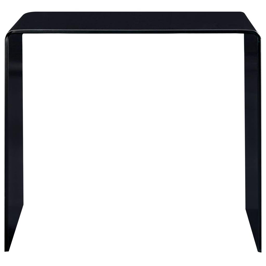 Măsuță de cafea, negru, 50 x 50 x 45 cm, sticlă securizată