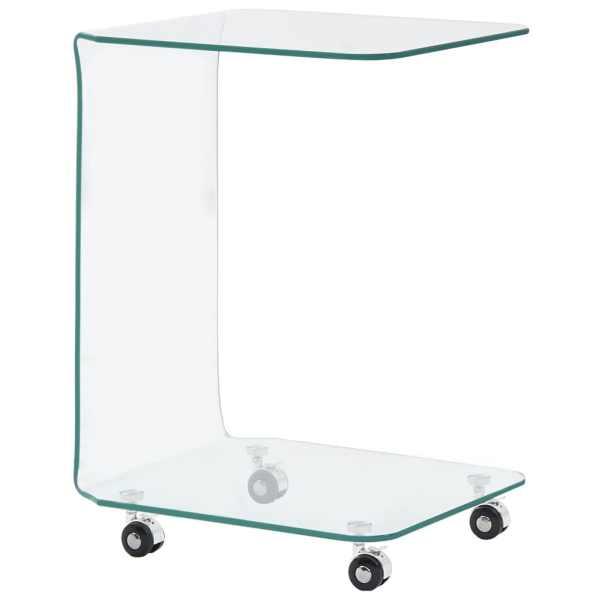 vidaXL Măsuță de cafea, 45 x 40 x 63 cm, sticlă securizată