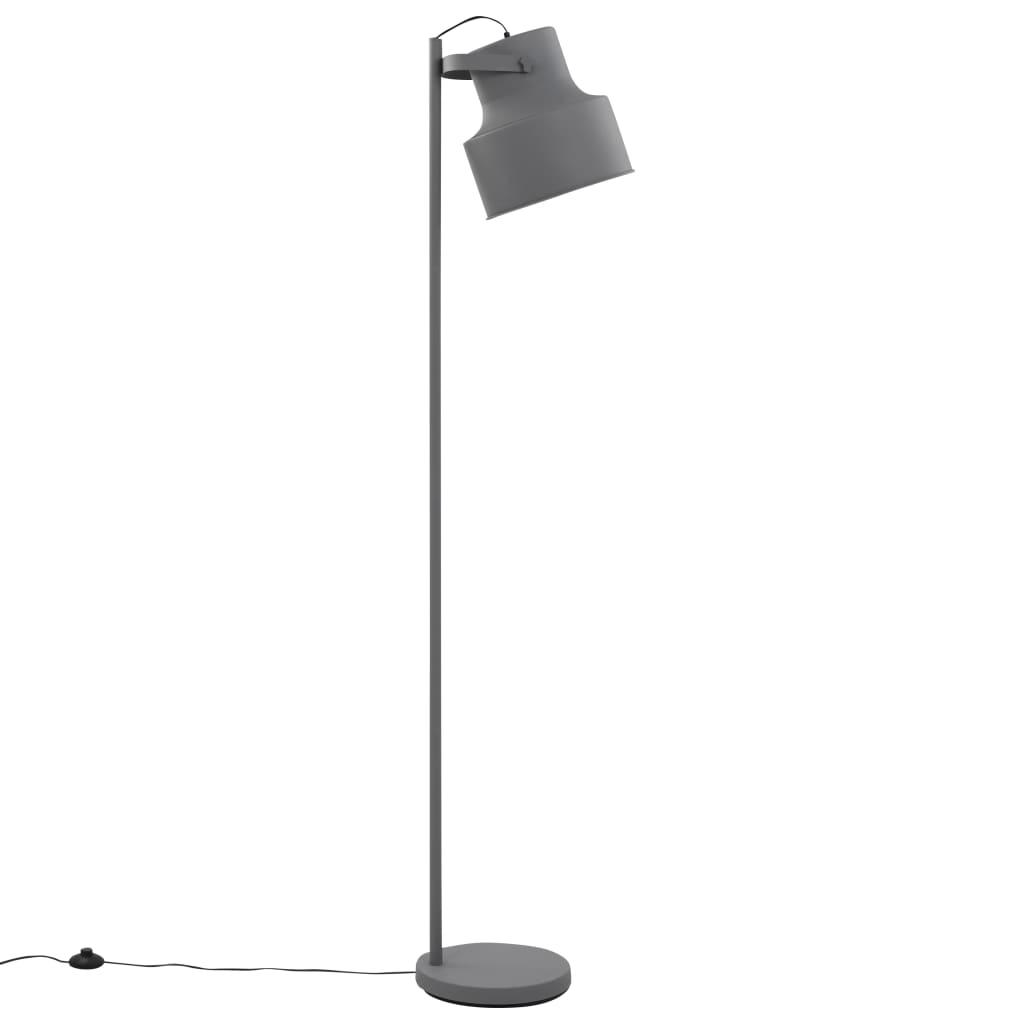 Lampă de podea, gri, metal, E27