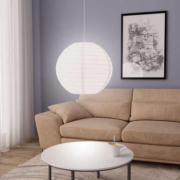 vidaXL Lampă suspendată, alb, Ø60 cm, E27