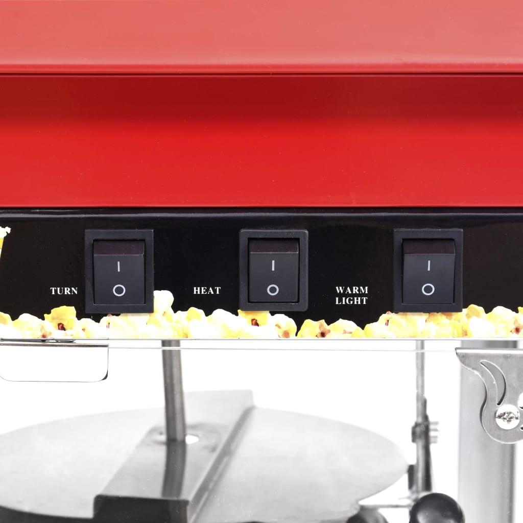 vidaXL Aparat de făcut floricele cu vas de teflon 1400 W