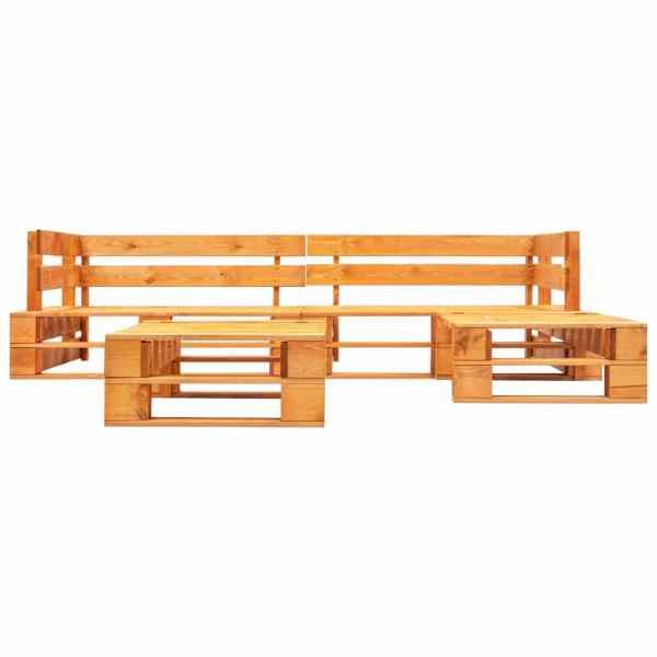 vidaXL Set mobilier de grădină paleți, 4 piese, maro miere, lemn