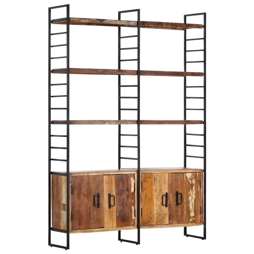 vidaXL Bibliotecă cu 4 rafturi, 124 x 30 x 180 cm, lemn masiv reciclat