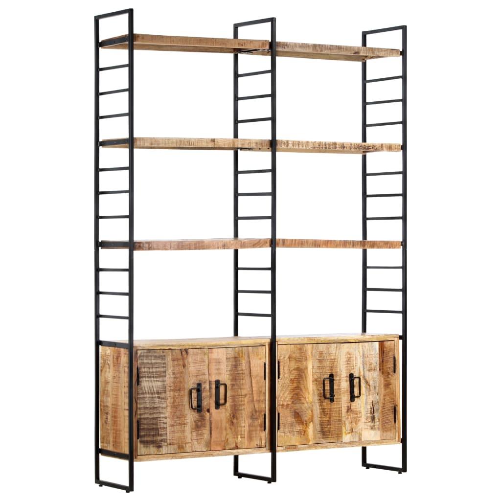 vidaXL Bibliotecă cu 4 rafturi, 124x30x180 cm, lemn de mango nefinisat