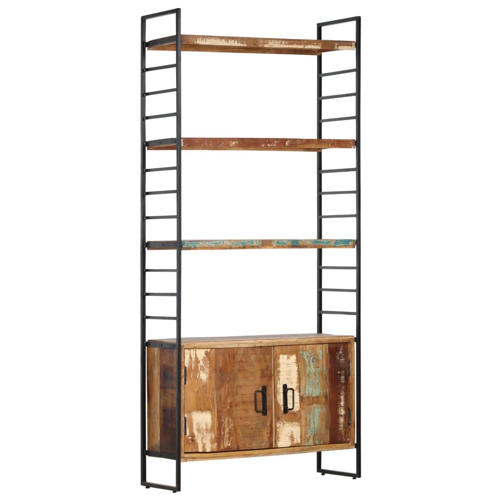 vidaXL Bibliotecă cu 4 niveluri, 80x30x180 cm, lemn masiv reciclat
