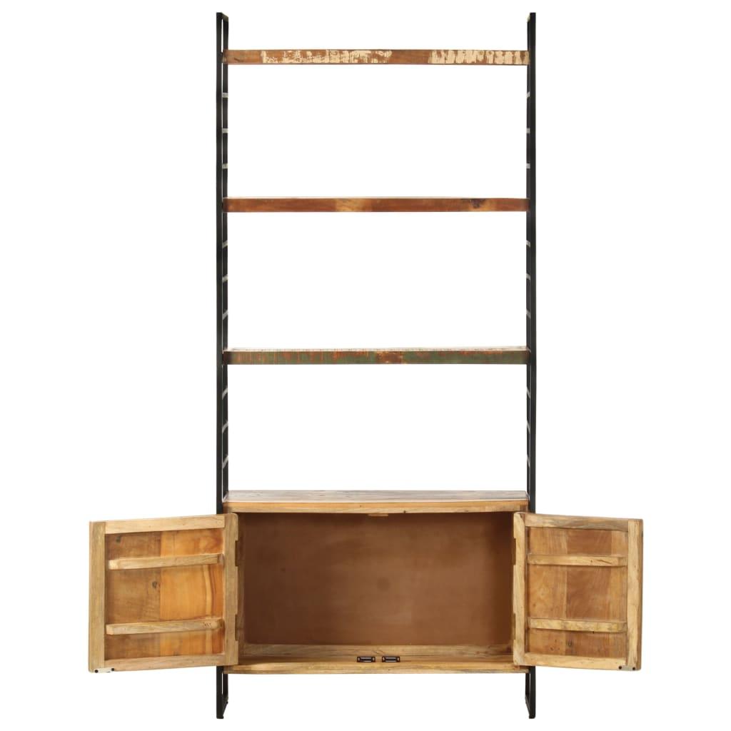 Bibliotecă cu 4 niveluri, 80x30x180 cm, lemn masiv reciclat