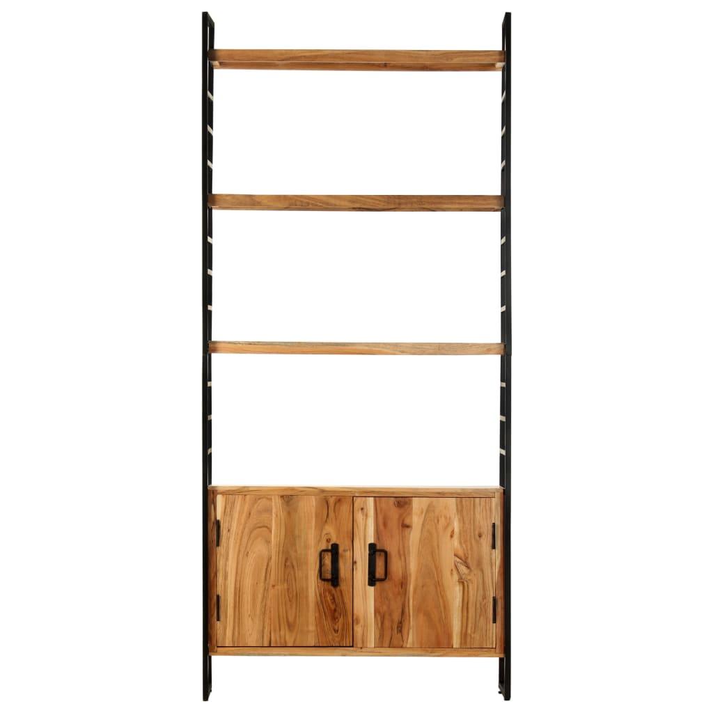 Bibliotecă cu 4 niveluri, 80x30x180 cm, lemn masiv de acacia