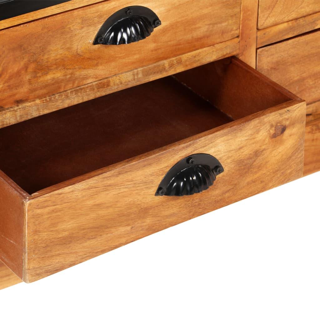 vidaXL Bibliotecă 4 rafturi 6 sertare 122x36x181 cm lemn masiv mango