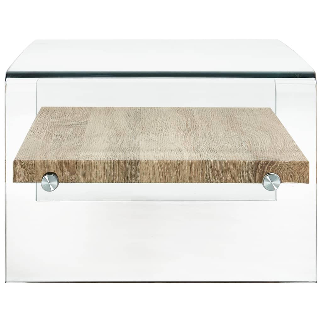 Măsuță de cafea, transparent, 98x45x31 cm, sticlă securizată