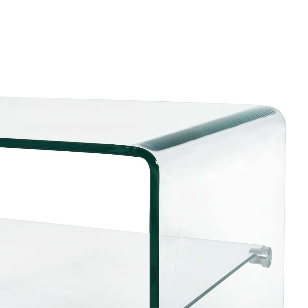 Măsuță de cafea transparentă, 50 x 45 x 33 cm, sticlă securizată