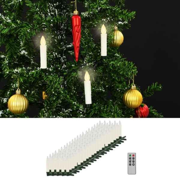 vidaXL Lumânări LED wireless cu telecomandă 100 buc. alb cald