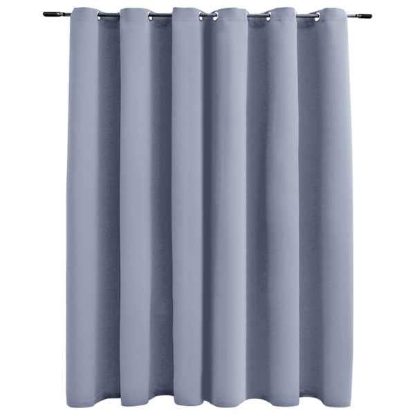 vidaXL Draperie opacă cu inele metalice, gri, 290 x 245 cm