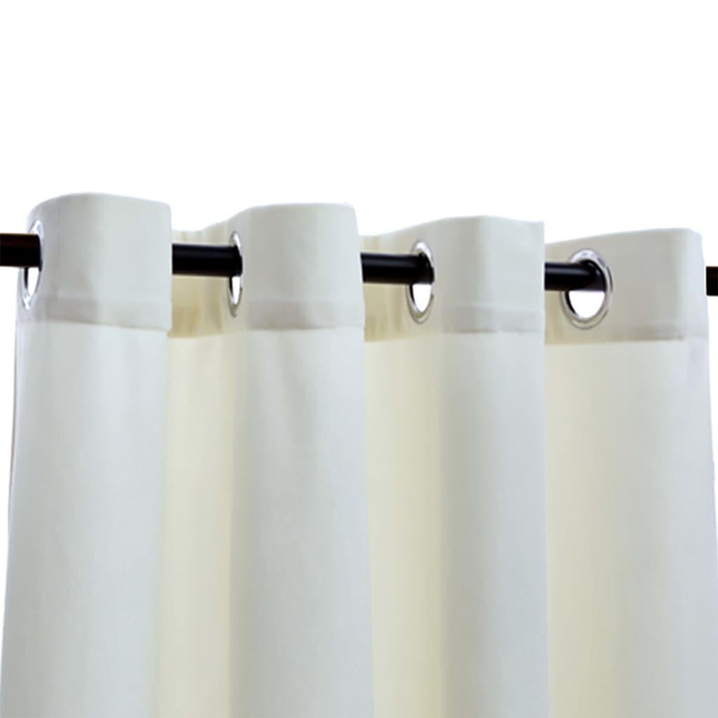 Perdele opace cu inele, 2 buc., crem, 140×175 cm, catifea