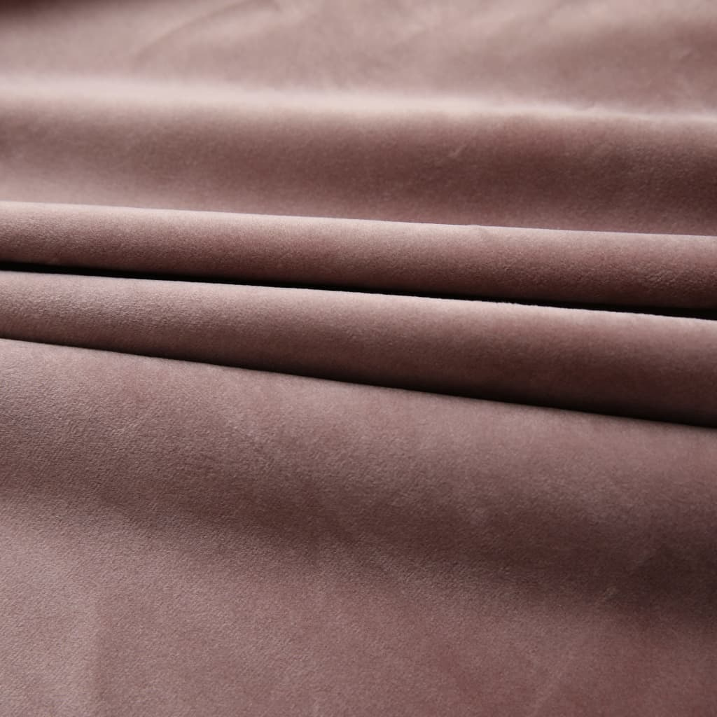 vidaXL Draperii opace 2 buc. roz antichizat 140×175 cm catifea cârlige