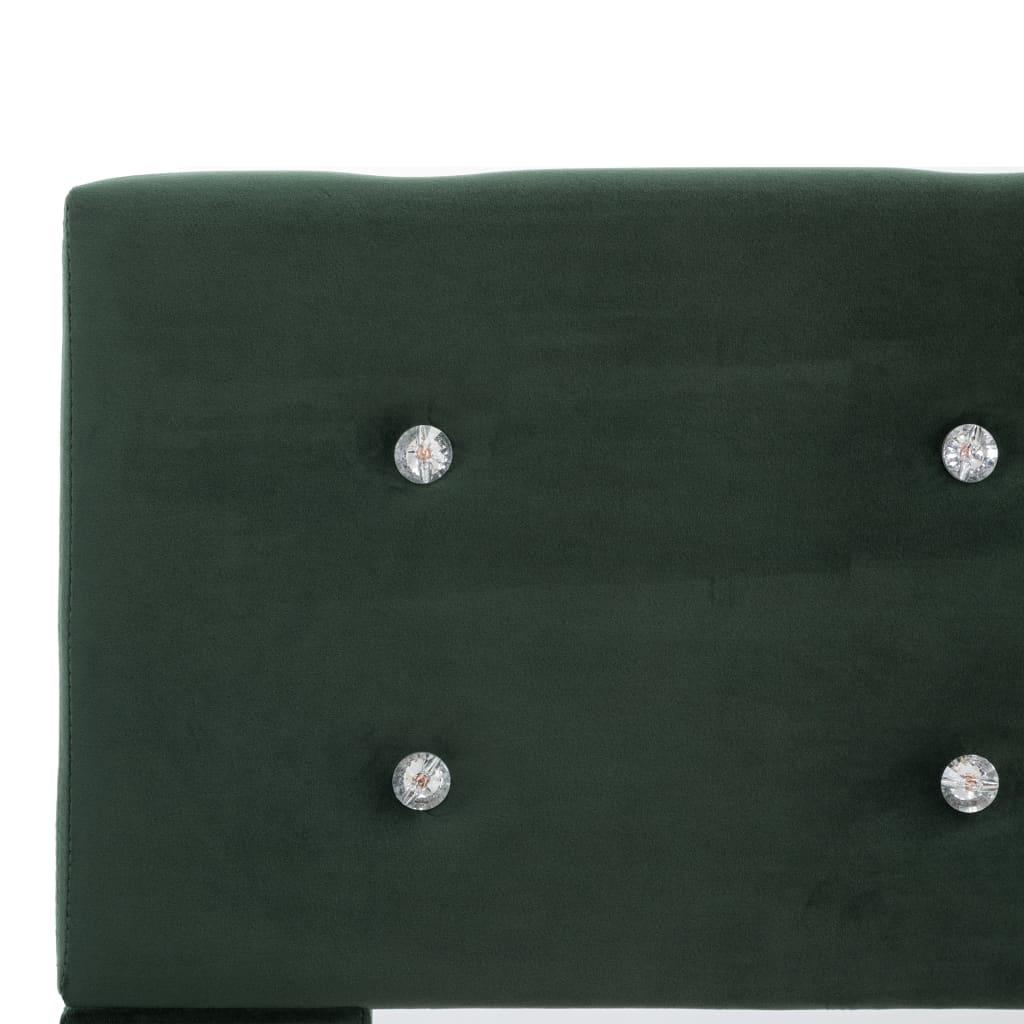 vidaXL Pat cu saltea, spumă cu memorie, verde, 140 x 200 cm, catifea