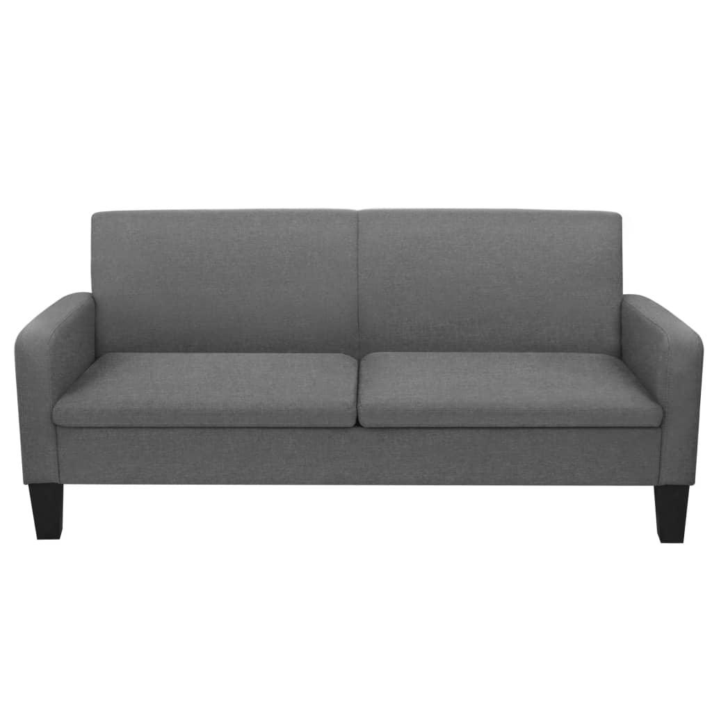 Set canapea, 2 piese, gri închis, material textil