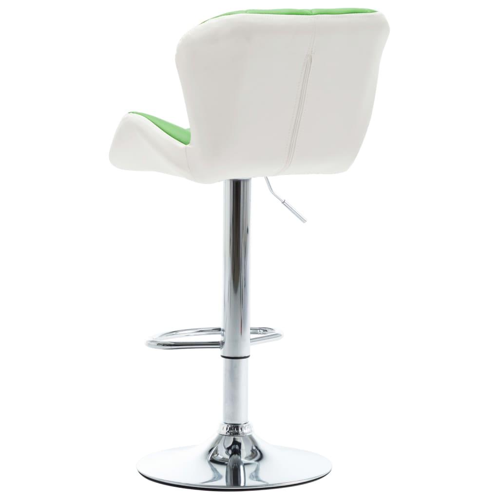 Scaun de bar, verde, piele ecologică
