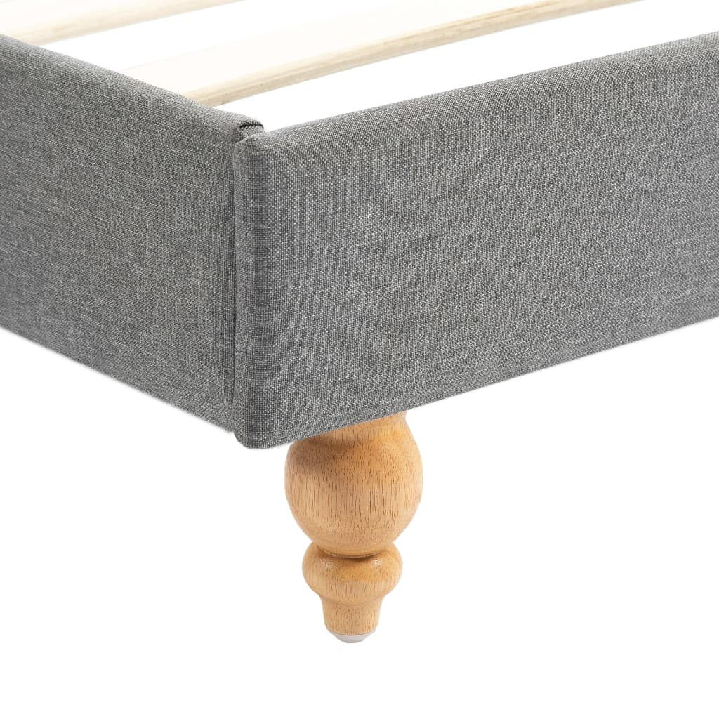 Pat cu LED și saltea, gri deschis, 180×200 cm, material textil