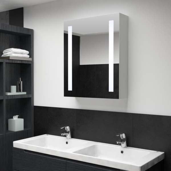 vidaXL Dulap de baie cu oglindă și LED-uri, 50 x 13 x 70 cm