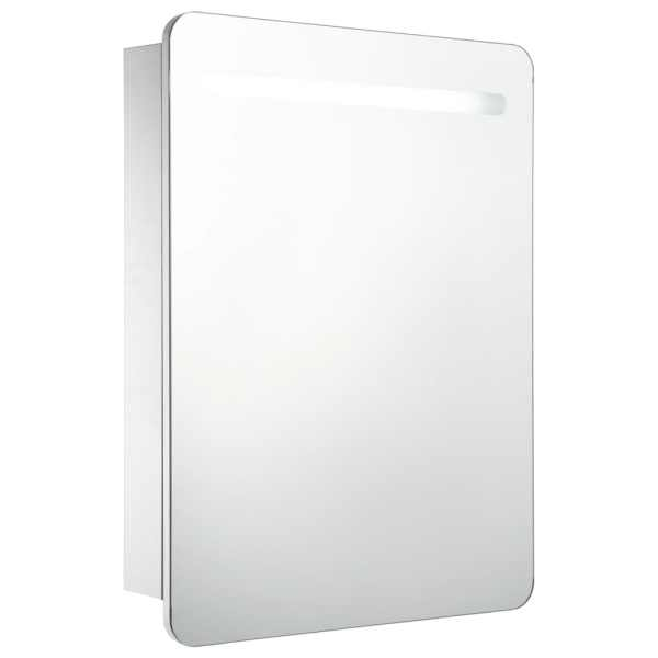 vidaXL Dulap de baie cu oglindă și LED-uri, 60 x 11 x 80 cm