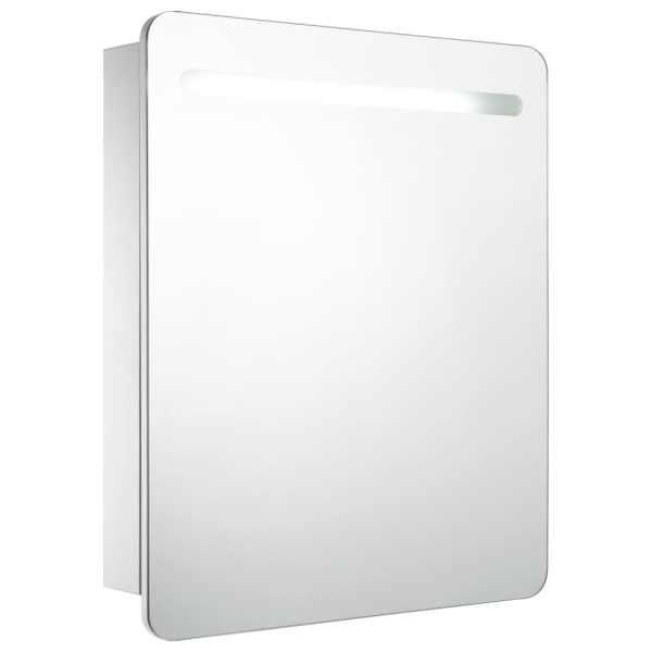 Dulap de baie cu oglindă și LED-uri, 68 x 9 x 80 cm