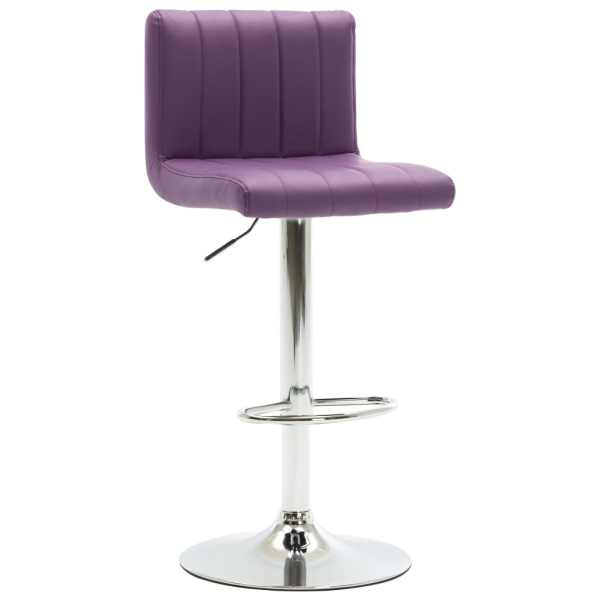 vidaXL Scaun de bar, violet, piele ecologică