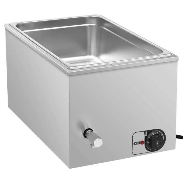 vidaXL Încălzitor alimente tip bain marie 1500W GN 1/1 oțel inoxidabil