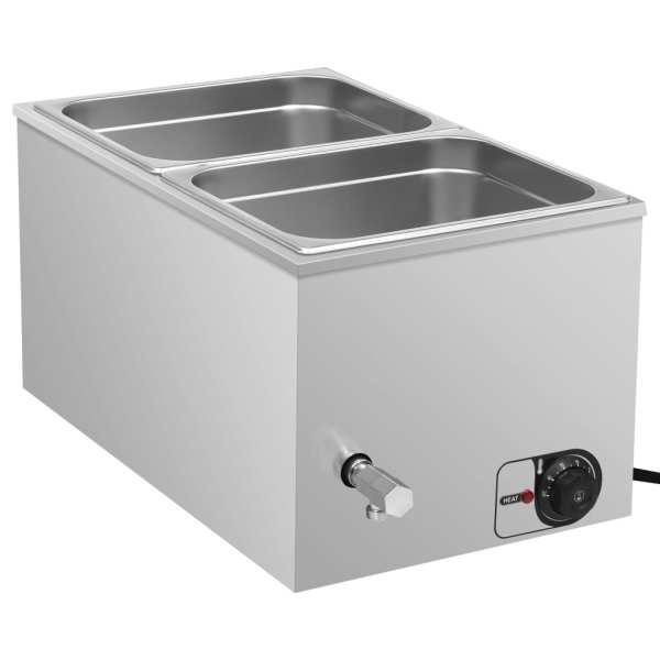 vidaXL Încălzitor alimente tip bain marie 1500W GN 1/2 oțel inoxidabil
