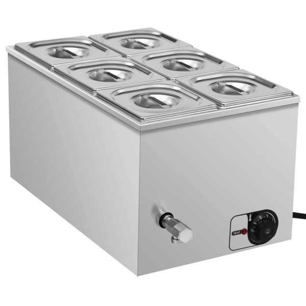 vidaXL Încălzitor alimente tip bain marie 1500W GN 1/6 oțel inoxidabil