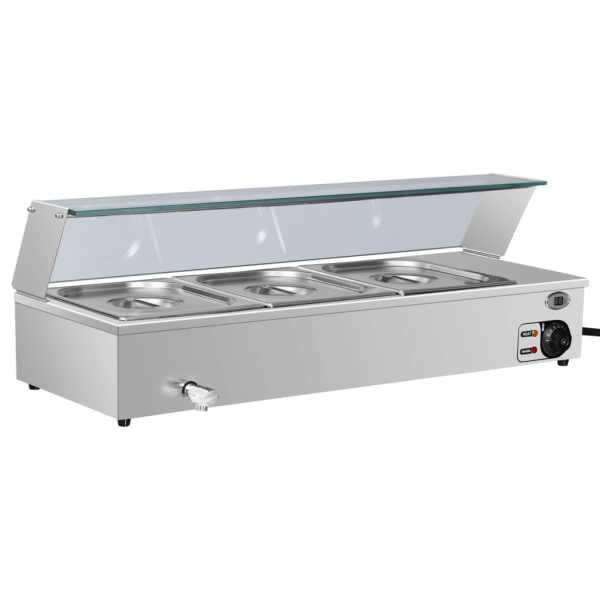 vidaXL Încălzitor Gastronorm bain marie 3 vase GN 1/2 oțel inoxidabil