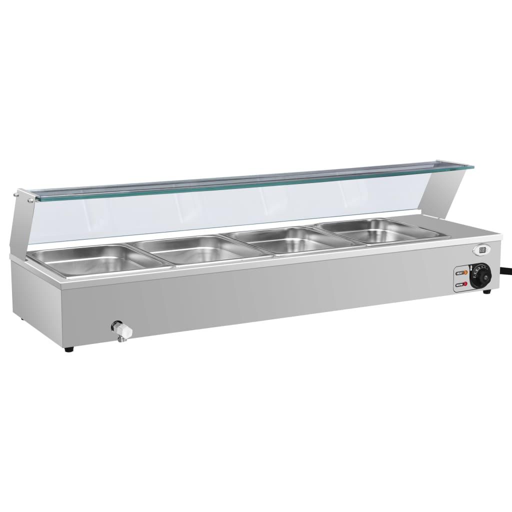 vidaXL Încălzitor Gastronorm bain marie 4 vase GN 1/2 oțel inoxidabil