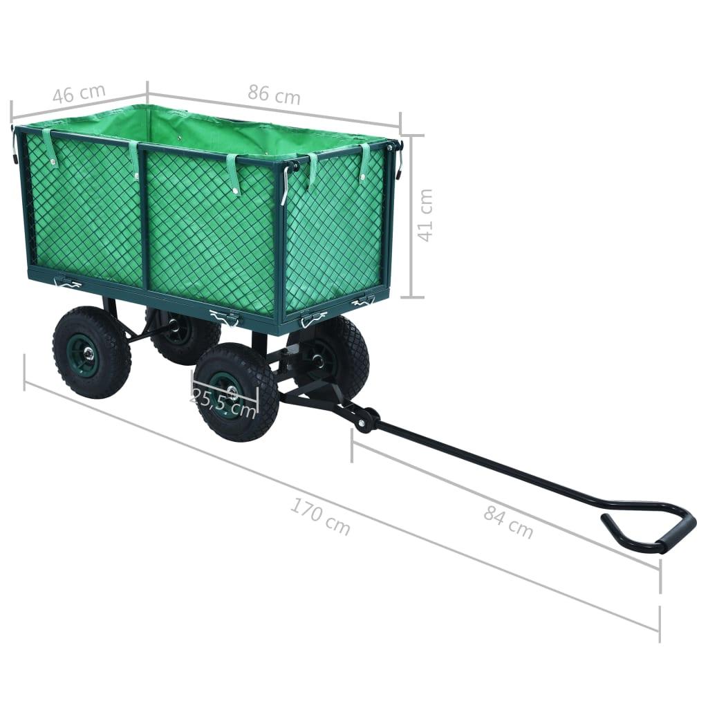 Cărucior manual de grădină, verde, 350 kg