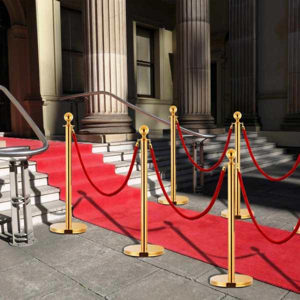 vidaXL Set VIP stil barieră, 3 piese, auriu, oțel inoxidabil