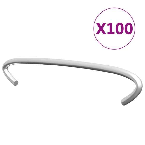 vidaXL Cârlige pentru gabioane, 100 buc., oțel galvanizat, 10 cm