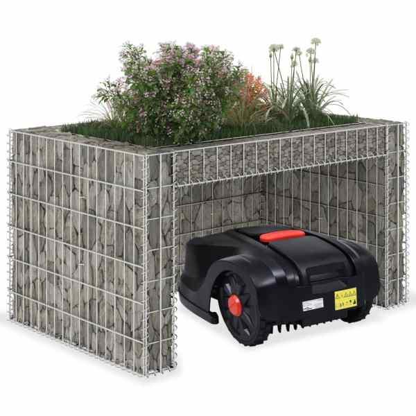 vidaXL Garaj mașină tuns iarba, strat înălțat, 110x80x60 cm sârmă oțel