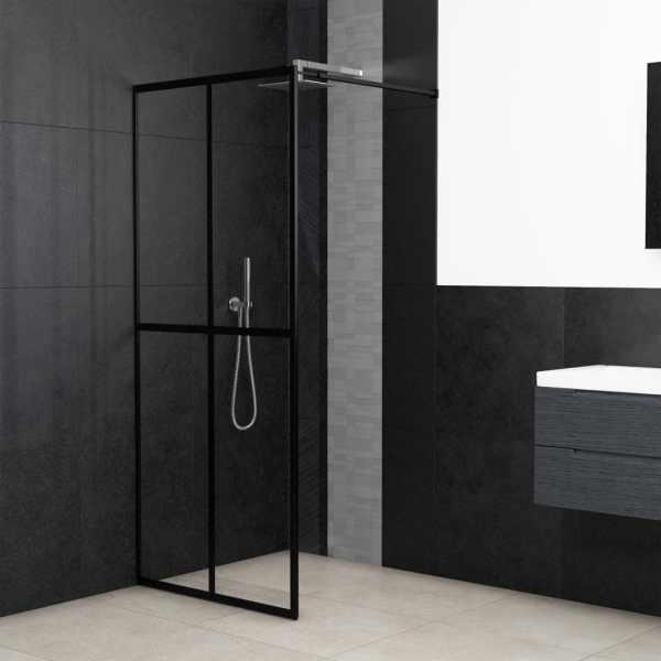 vidaXL Paravan de duș walk-in, 140 x 195 cm, sticlă securizată